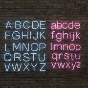 霓虹字母大写和小写 3d model