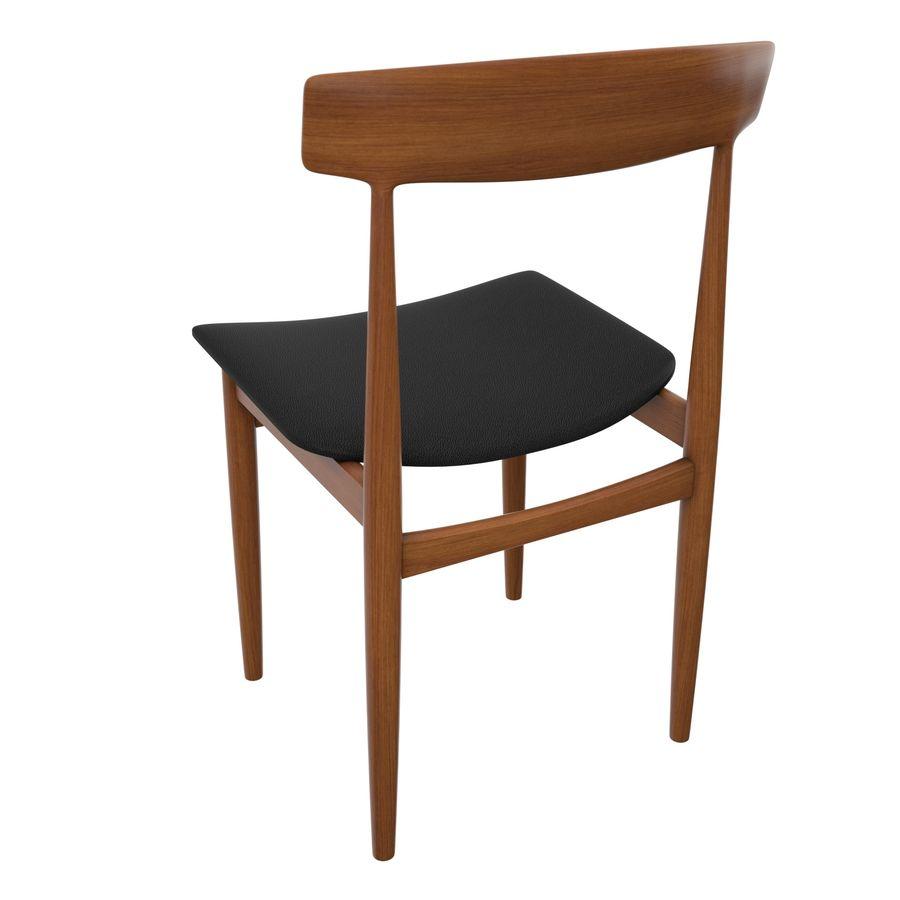 Dansk modern stol royalty-free 3d model - Preview no. 4