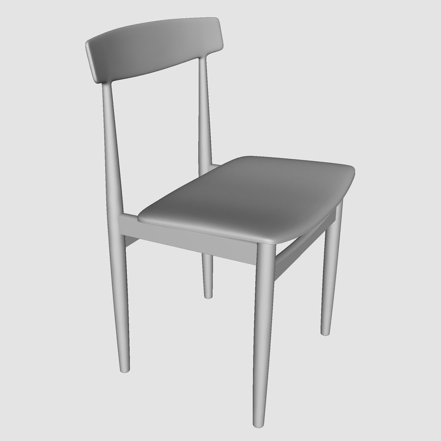 Danish Modern Chair royalty-free 3d model - Preview no. 5