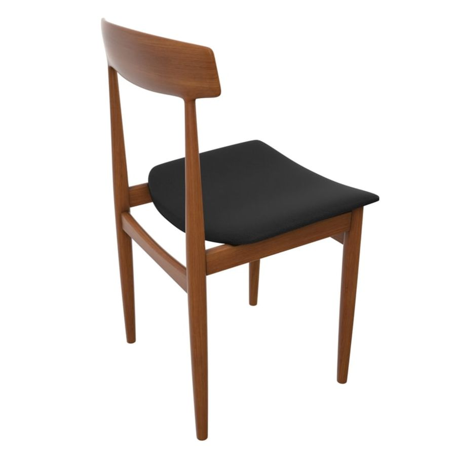 Danish Modern Chair royalty-free 3d model - Preview no. 2