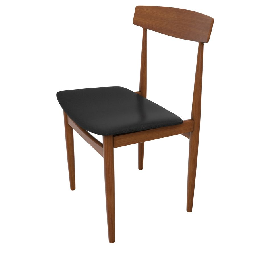 Danish Modern Chair royalty-free 3d model - Preview no. 3