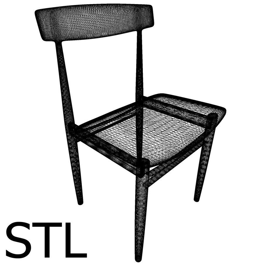 Dansk modern stol royalty-free 3d model - Preview no. 8