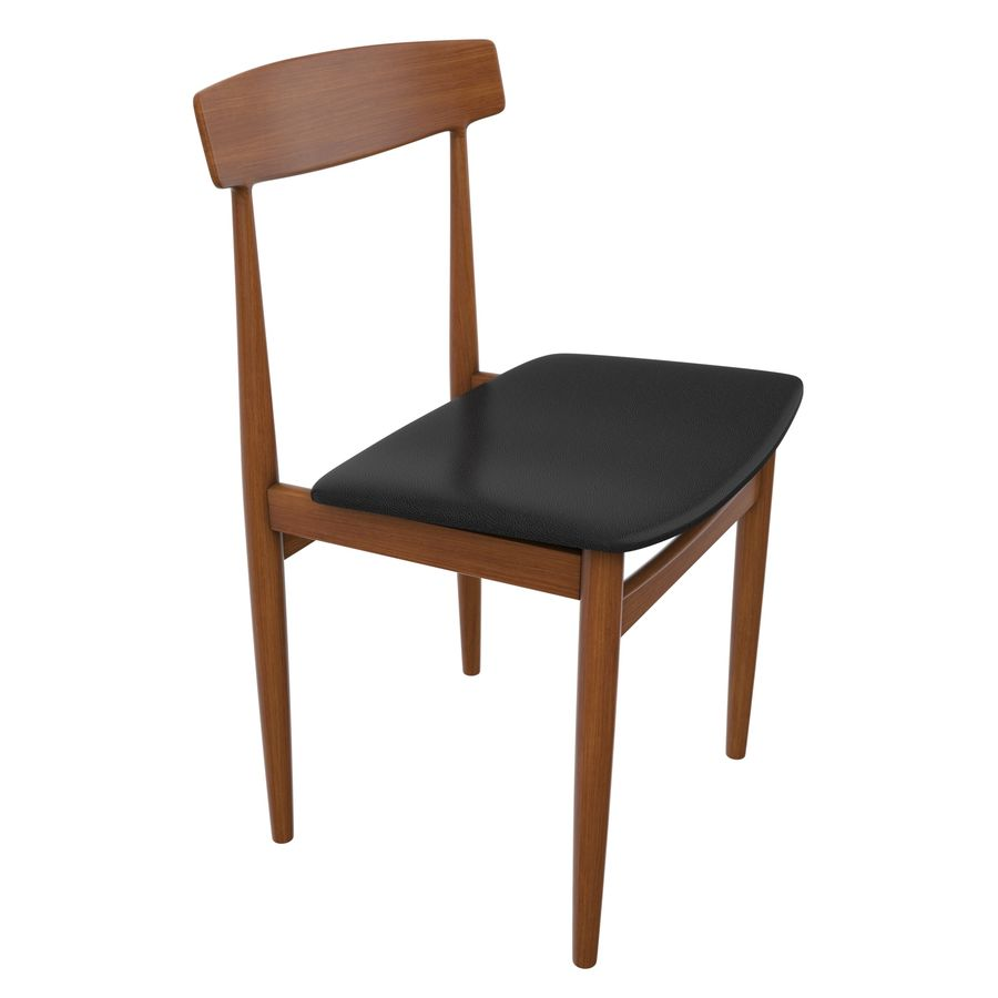 Danish Modern Chair royalty-free 3d model - Preview no. 1