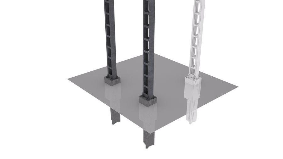 Metalowy słupek sieci trakcyjnej MP1-10 (12) royalty-free 3d model - Preview no. 4