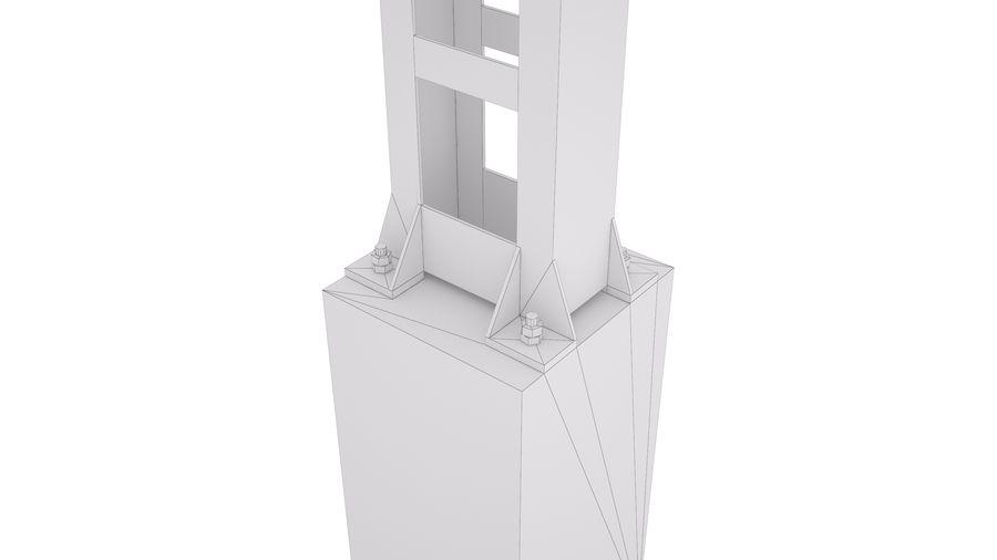 Metalowy słupek sieci trakcyjnej MP1-10 (12) royalty-free 3d model - Preview no. 3