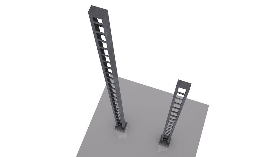 Metalowy słupek sieci trakcyjnej MP1-10 (12) royalty-free 3d model - Preview no. 5