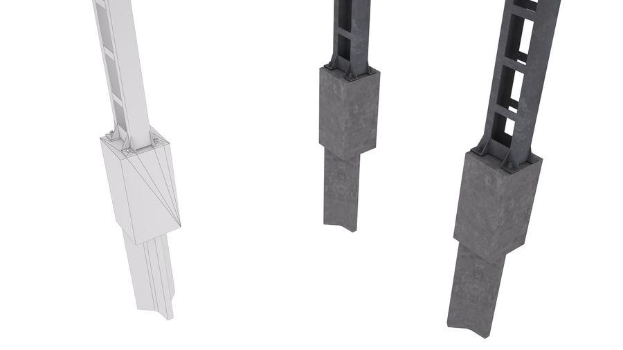 Metalowy słupek sieci trakcyjnej MP1-10 (12) royalty-free 3d model - Preview no. 2