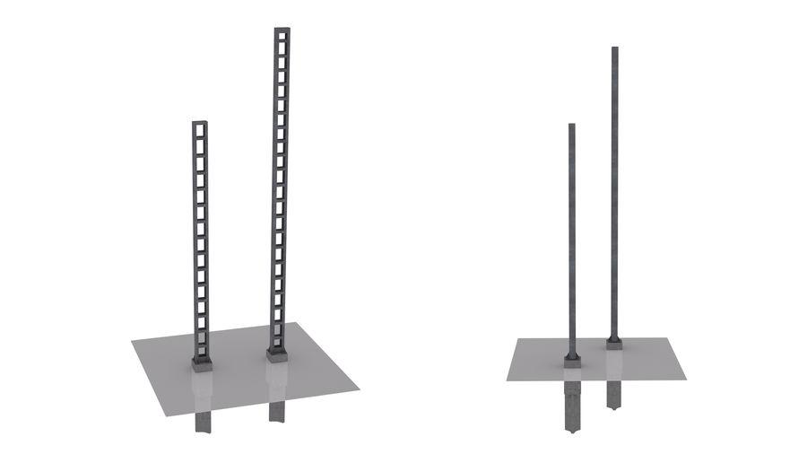 Metalowy słupek sieci trakcyjnej MP1-10 (12) royalty-free 3d model - Preview no. 1