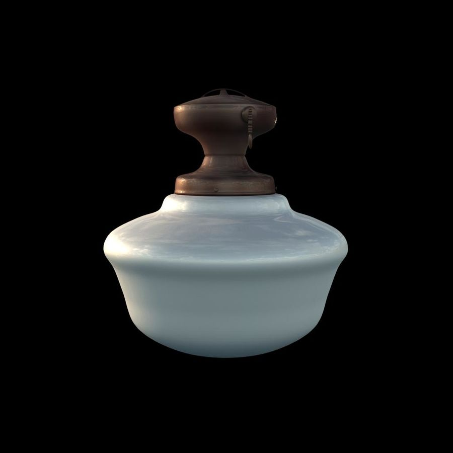 lampa sufitowa royalty-free 3d model - Preview no. 2
