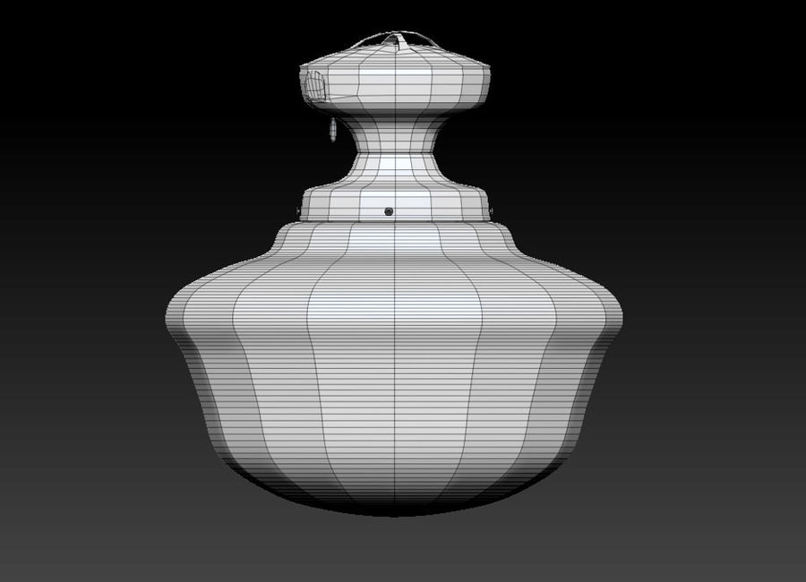 lampa sufitowa royalty-free 3d model - Preview no. 8