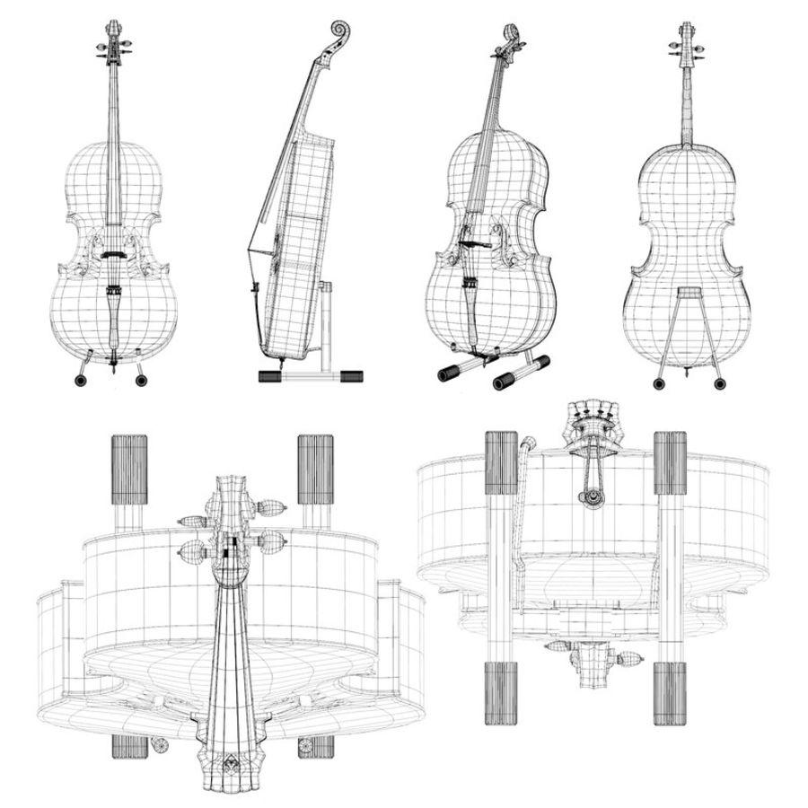 Scène de scène de violoncelle royalty-free 3d model - Preview no. 15