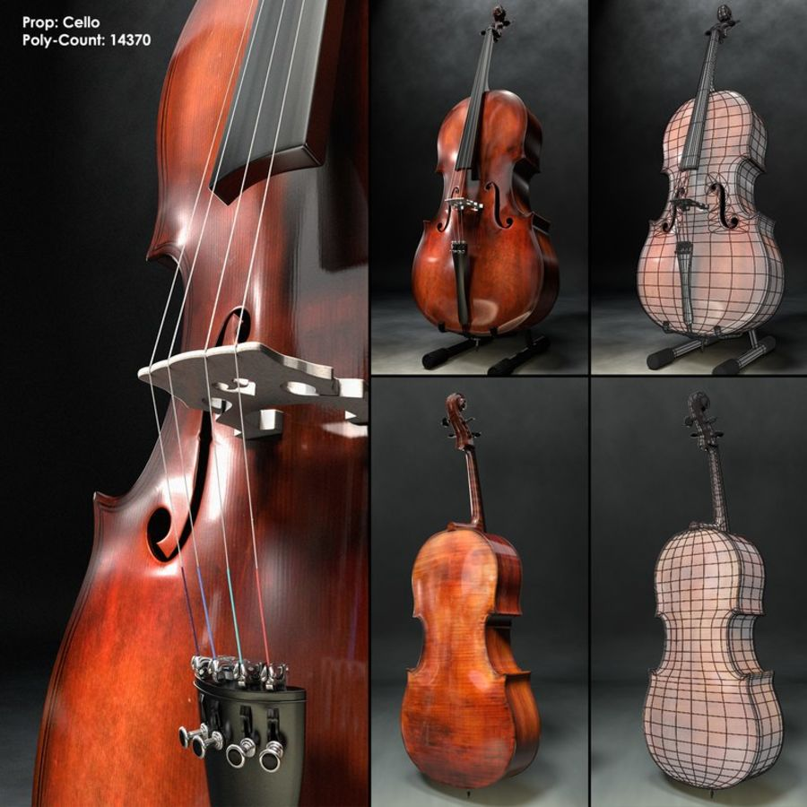 Scène de scène de violoncelle royalty-free 3d model - Preview no. 6
