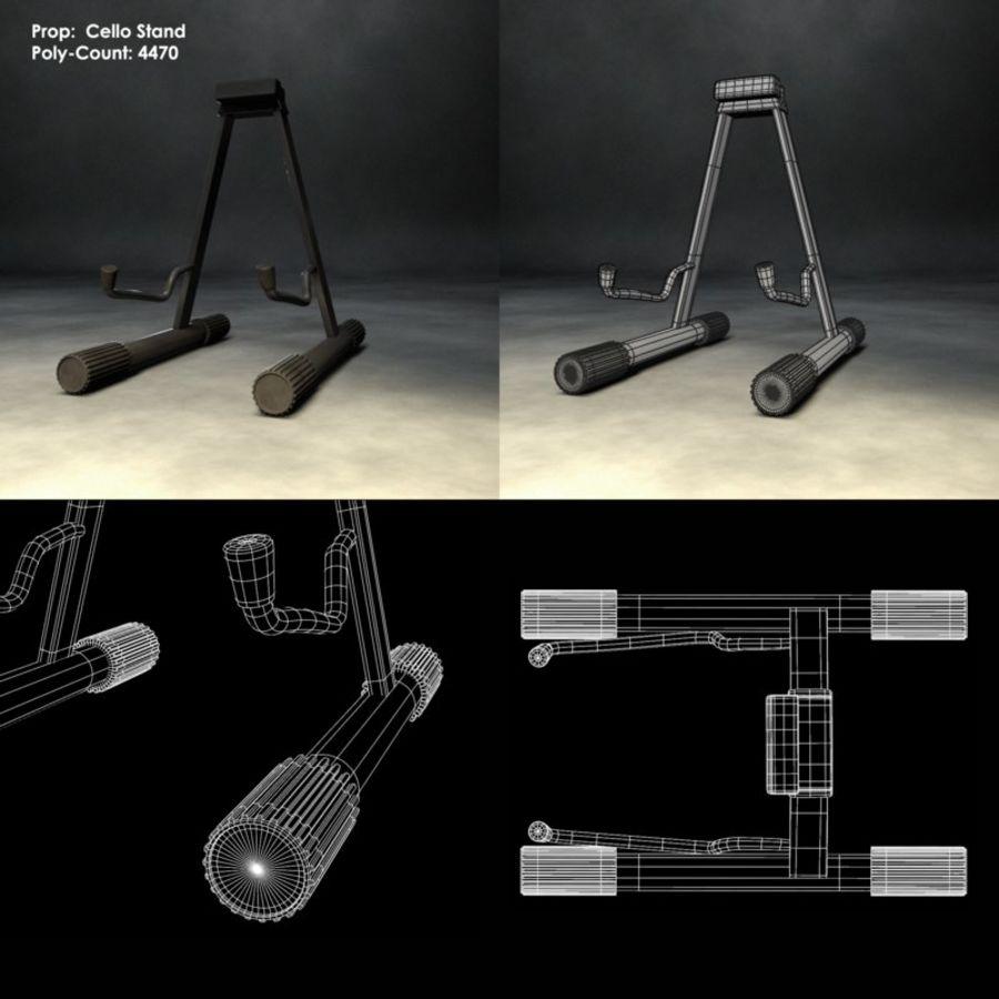 Scène de scène de violoncelle royalty-free 3d model - Preview no. 9