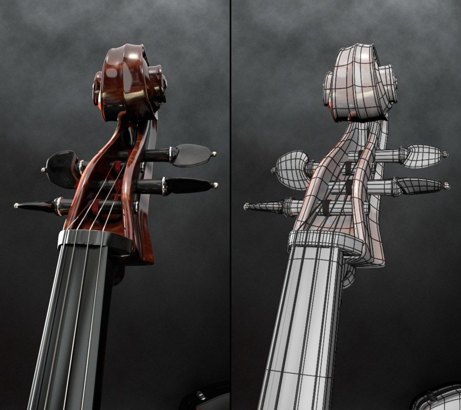 Scène de scène de violoncelle royalty-free 3d model - Preview no. 13