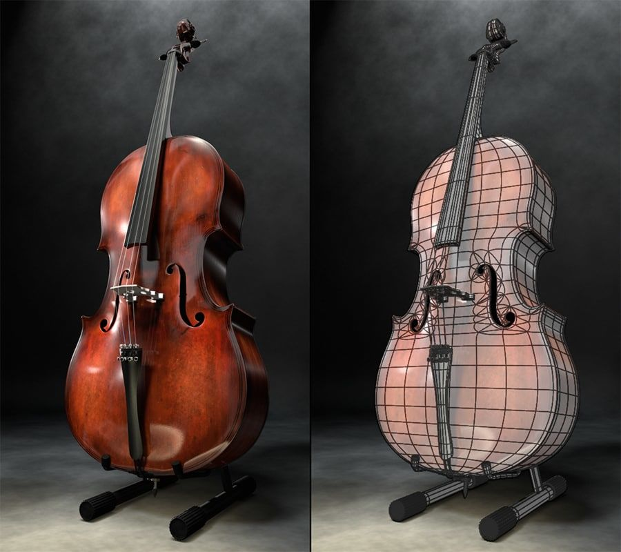 Scène de scène de violoncelle royalty-free 3d model - Preview no. 3