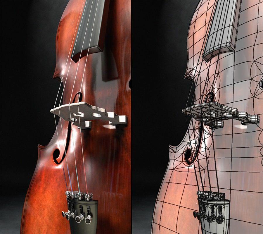 Scène de scène de violoncelle royalty-free 3d model - Preview no. 2