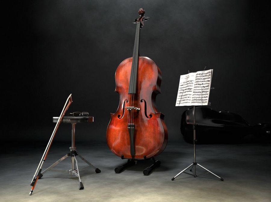 Scène de scène de violoncelle royalty-free 3d model - Preview no. 1