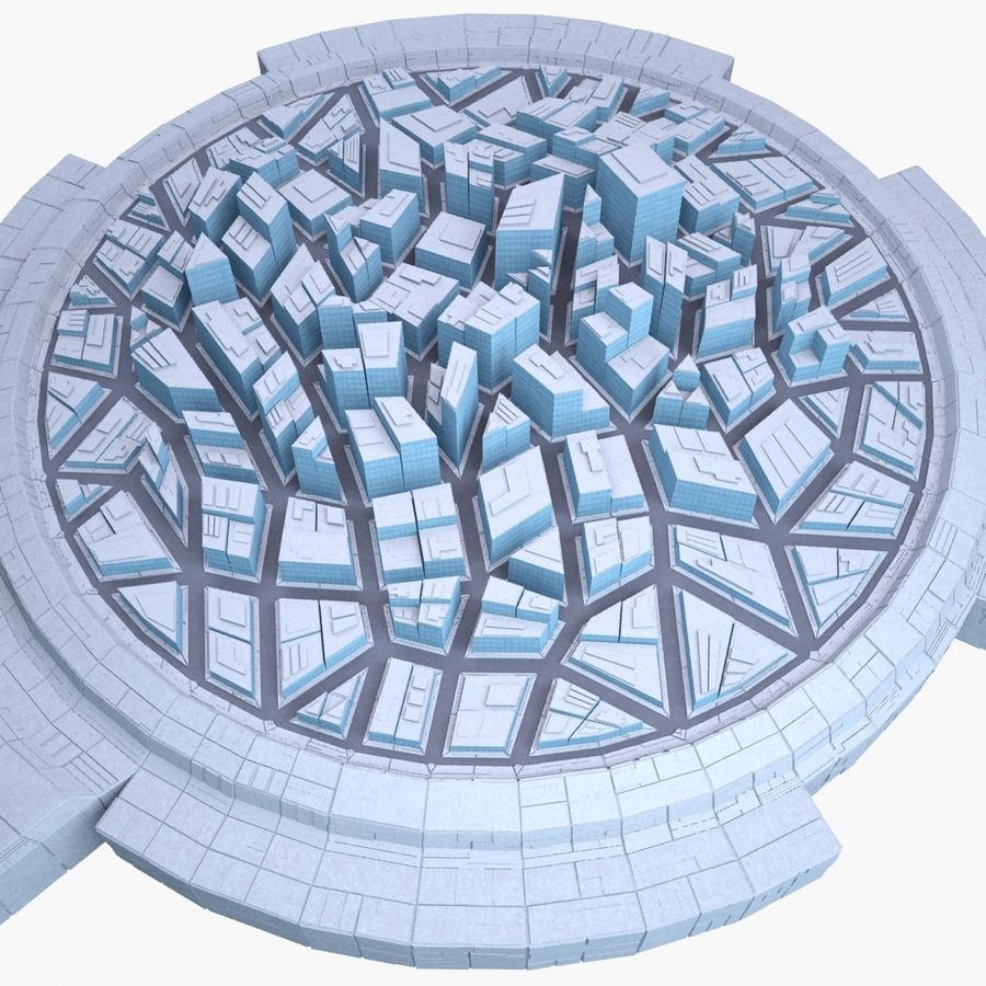 Dome City MHT-09 royalty-free 3d model - Preview no. 5