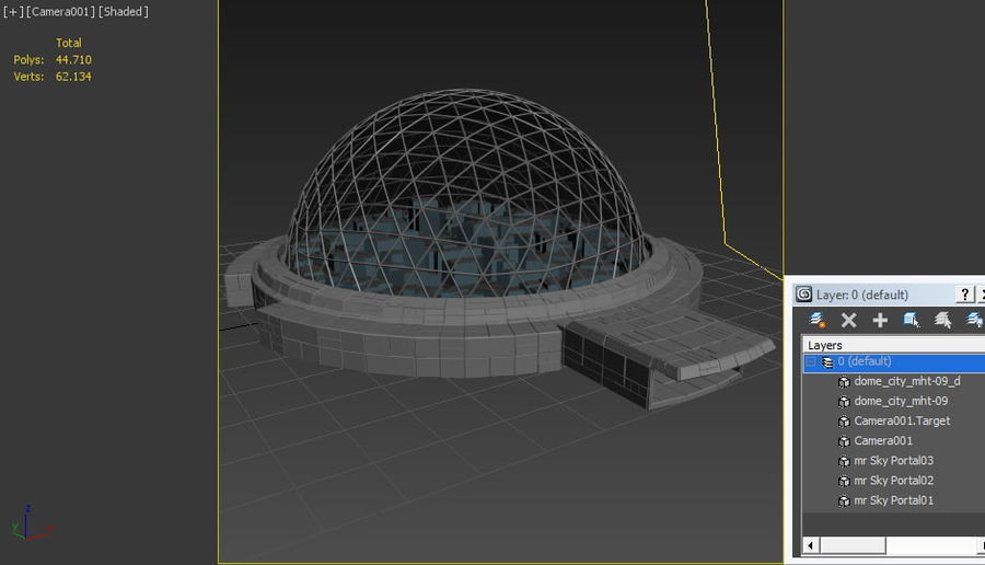 Dome City MHT-09 royalty-free 3d model - Preview no. 9