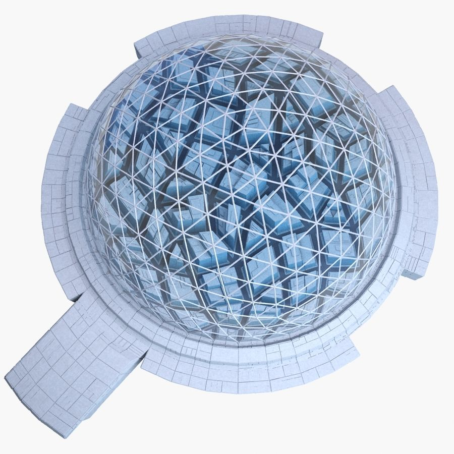Dome City MHT-09 royalty-free 3d model - Preview no. 6