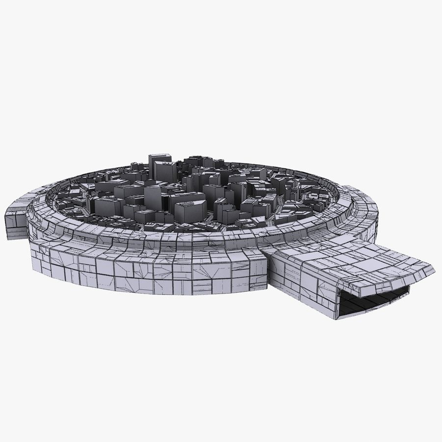 Dome City MHT-09 royalty-free 3d model - Preview no. 10