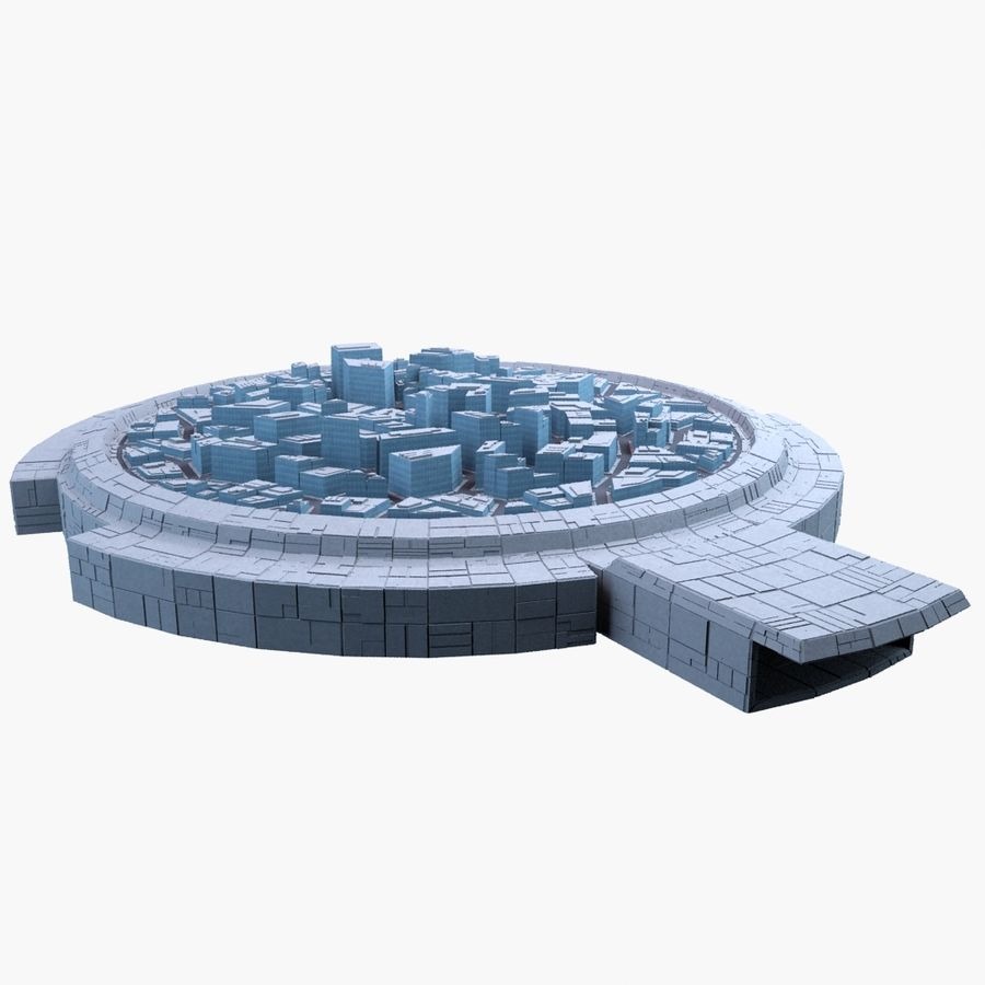 Dome City MHT-09 royalty-free 3d model - Preview no. 2