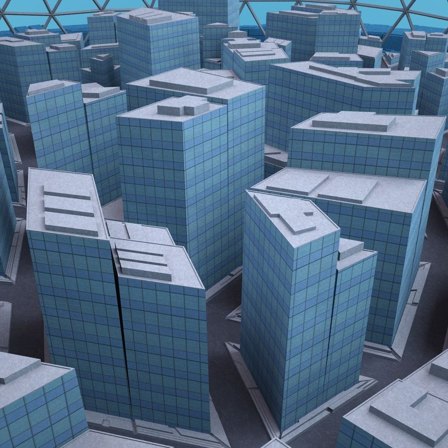 Dome City MHT-09 royalty-free 3d model - Preview no. 3