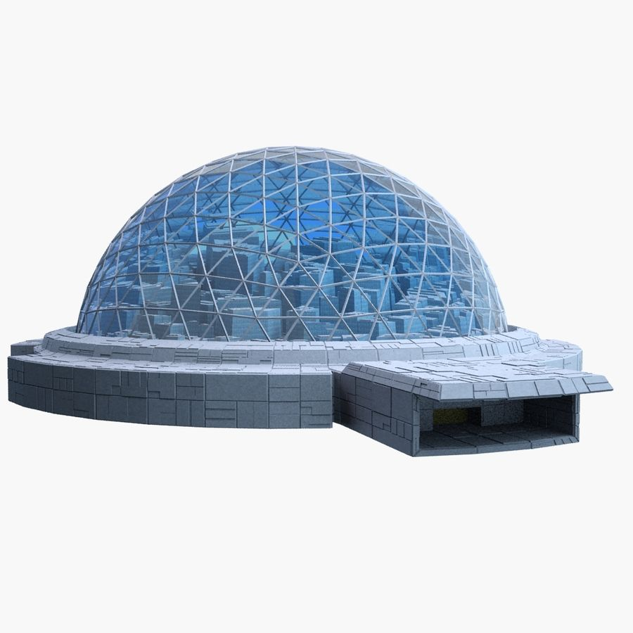 Dome City MHT-09 royalty-free 3d model - Preview no. 7