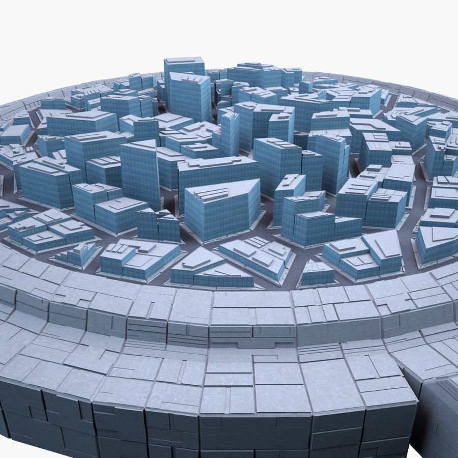 Dome City MHT-09 royalty-free 3d model - Preview no. 4