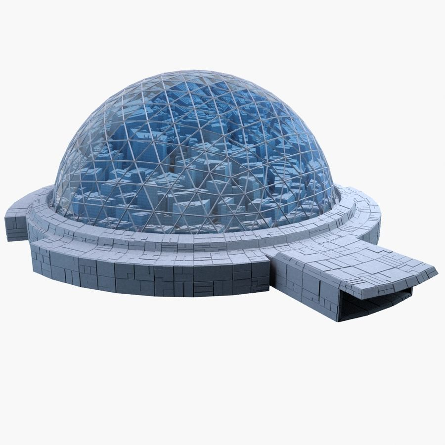 Dome City MHT-09 royalty-free 3d model - Preview no. 1