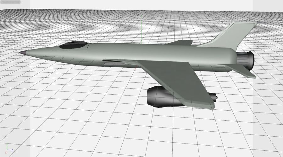 Fighter aircraft royalty-free 3d model - Preview no. 4