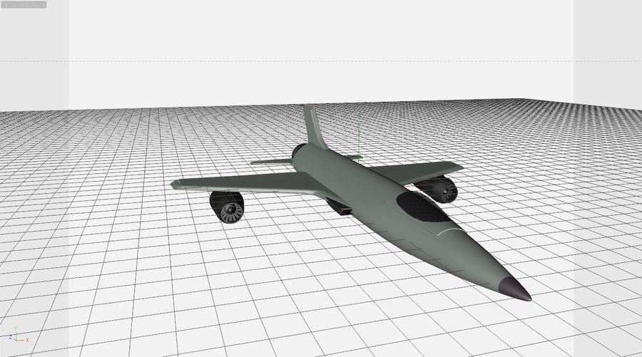 Fighter aircraft royalty-free 3d model - Preview no. 1