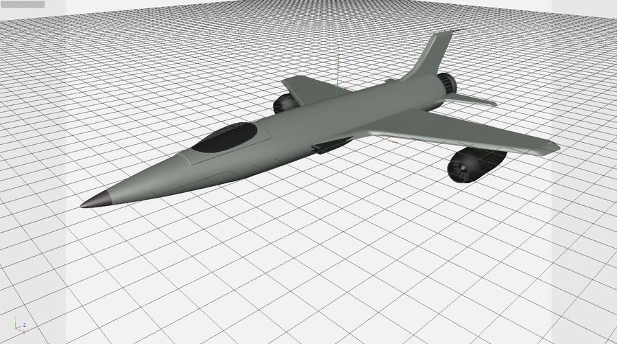 Fighter aircraft royalty-free 3d model - Preview no. 5