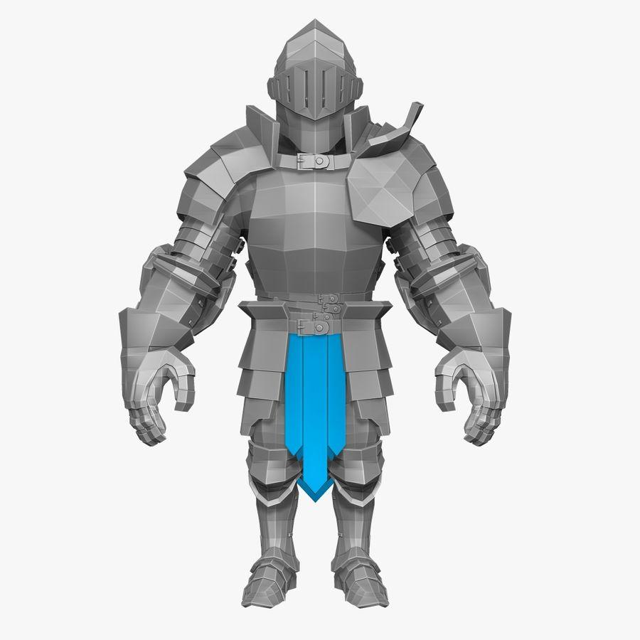 Oyun Şövalyeleri (Seri A) K3 Base Mesh royalty-free 3d model - Preview no. 5