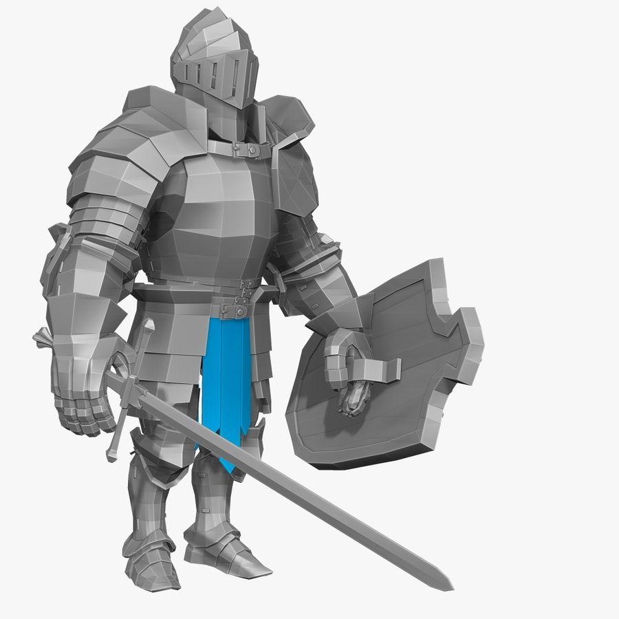 Oyun Şövalyeleri (Seri A) K3 Base Mesh royalty-free 3d model - Preview no. 1