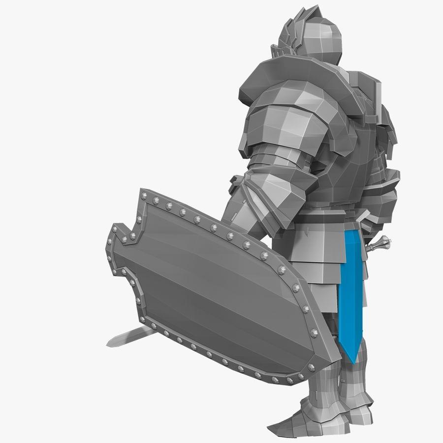 Oyun Şövalyeleri (Seri A) K3 Base Mesh royalty-free 3d model - Preview no. 3