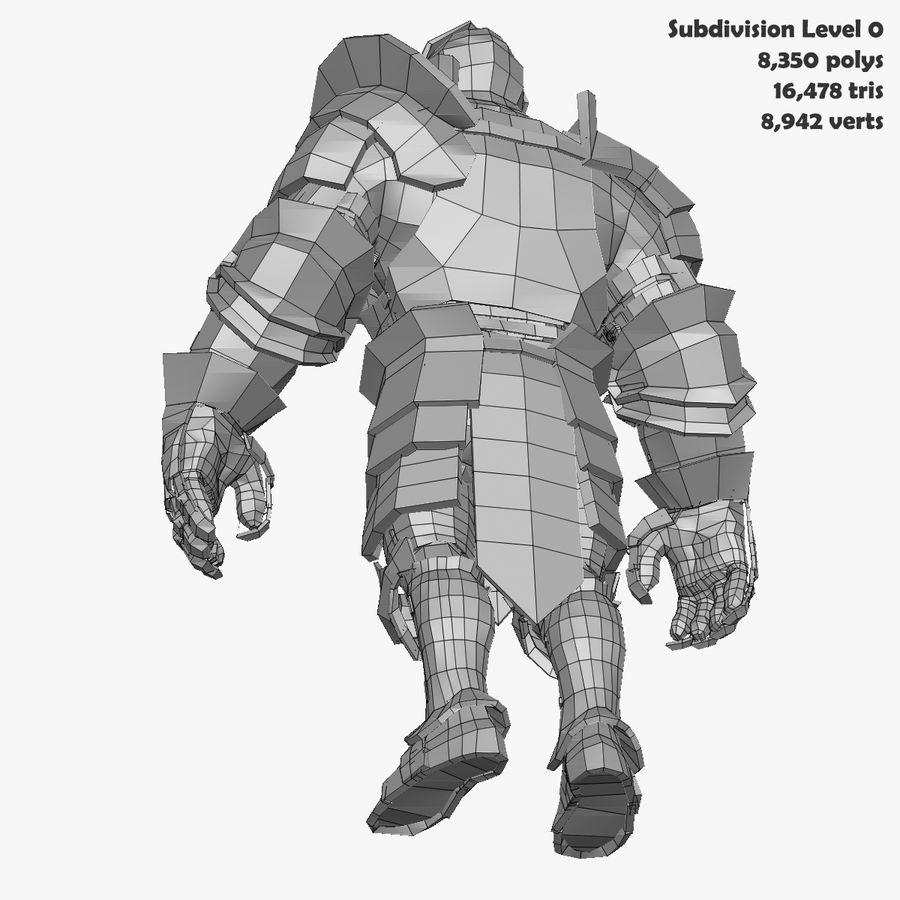 Oyun Şövalyeleri (Seri A) K3 Base Mesh royalty-free 3d model - Preview no. 23