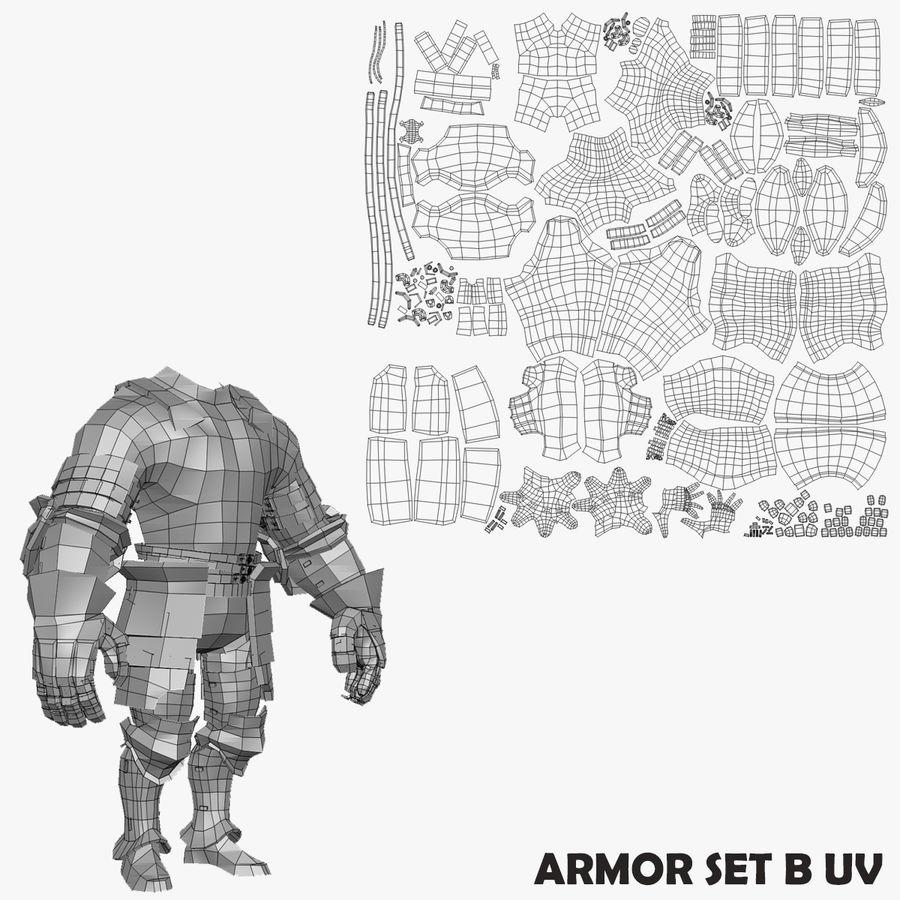 Oyun Şövalyeleri (Seri A) K3 Base Mesh royalty-free 3d model - Preview no. 17