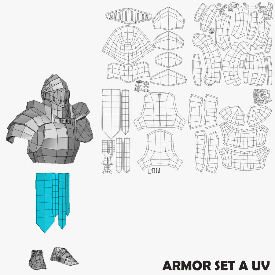 Oyun Şövalyeleri (Seri A) K3 Base Mesh royalty-free 3d model - Preview no. 16