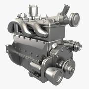엔진 GAZ 3d model
