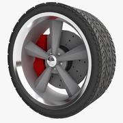 Muscle Car Wheel 3d model
