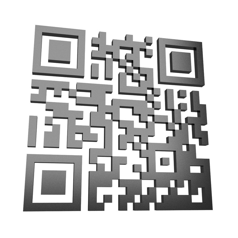 Kod QR royalty-free 3d model - Preview no. 5