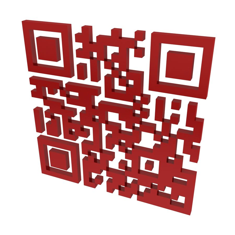 Kod QR royalty-free 3d model - Preview no. 2