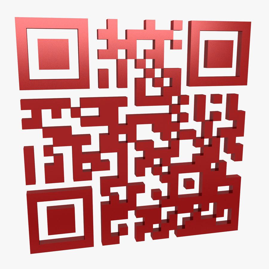 Kod QR royalty-free 3d model - Preview no. 1