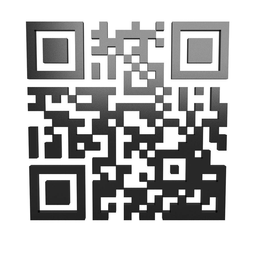 Kod QR royalty-free 3d model - Preview no. 3