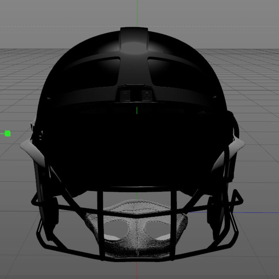 Football Helmet royalty-free 3d model - Preview no. 7