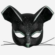 Zwarte kat masker 3d model