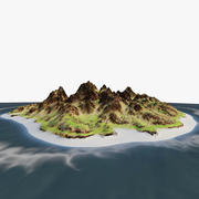 Isla rocosa modelo 3d