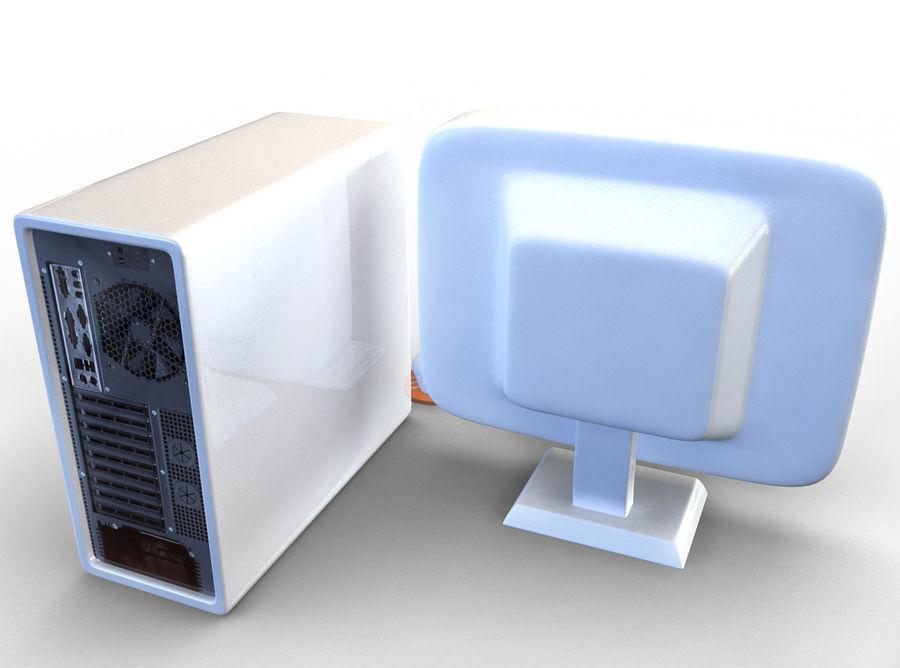 tecknad dator pc-uppsättning royalty-free 3d model - Preview no. 3