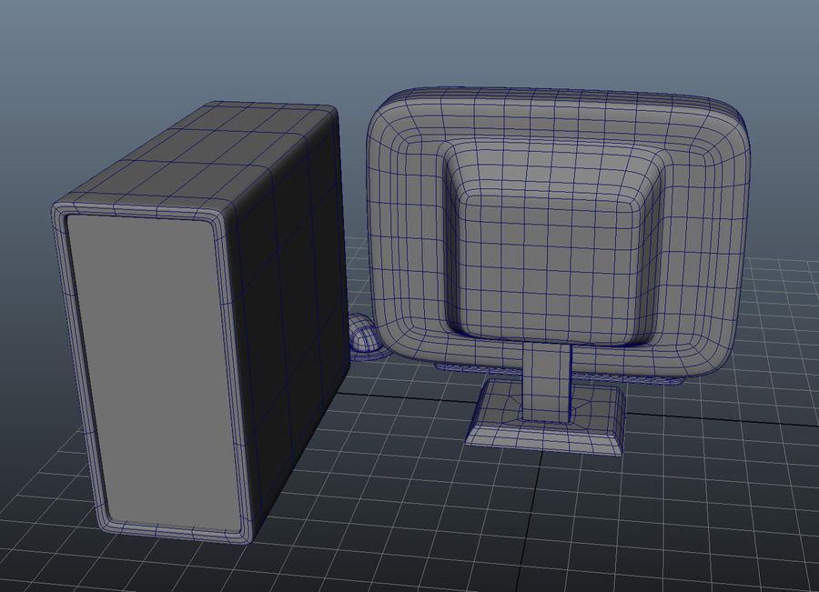 tecknad dator pc-uppsättning royalty-free 3d model - Preview no. 8